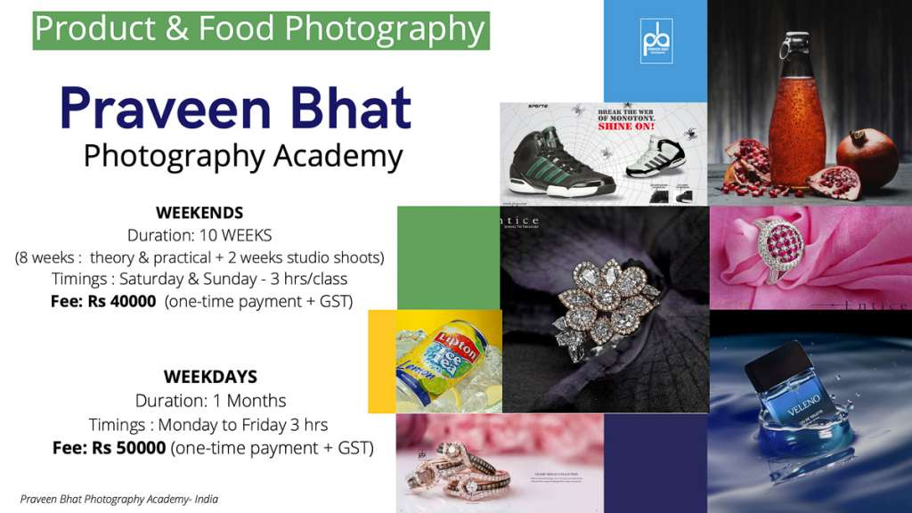 photography course Fee in india